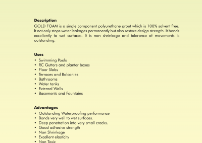 gold foam